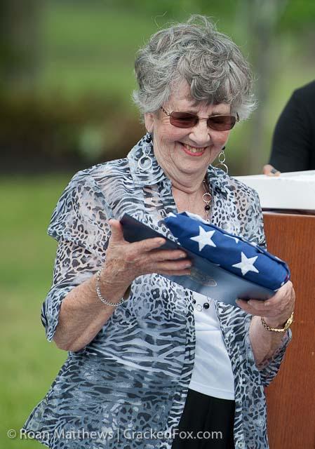 Rita Woodward Flag Dedication