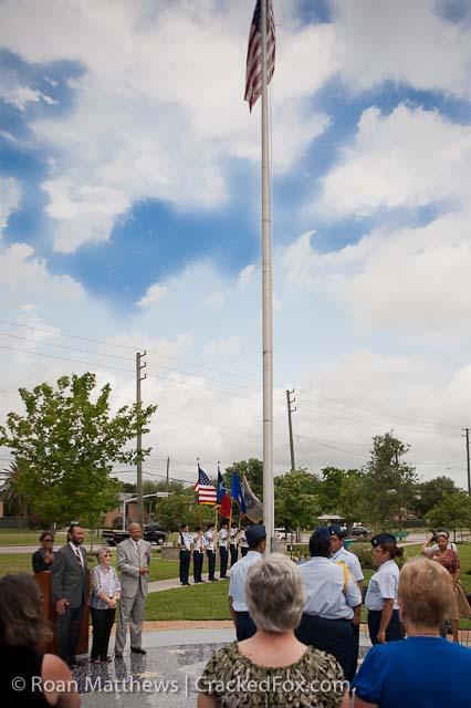 Flag Dedication at Rita Woodward Environmental Nature Park and Westbury High School