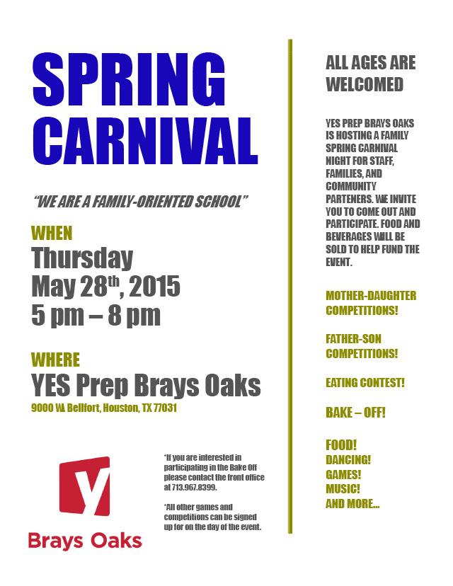 2015 Brays Oaks Spring Carnival