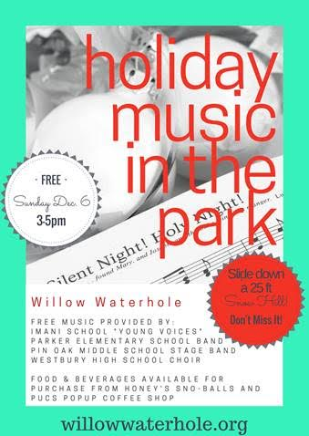 holiday music in the park willow waterhole