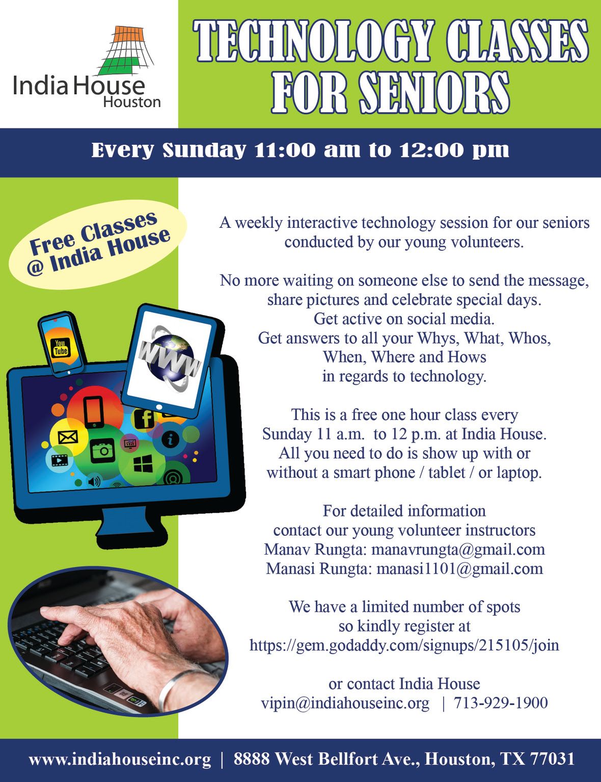 free tech classes for seniors