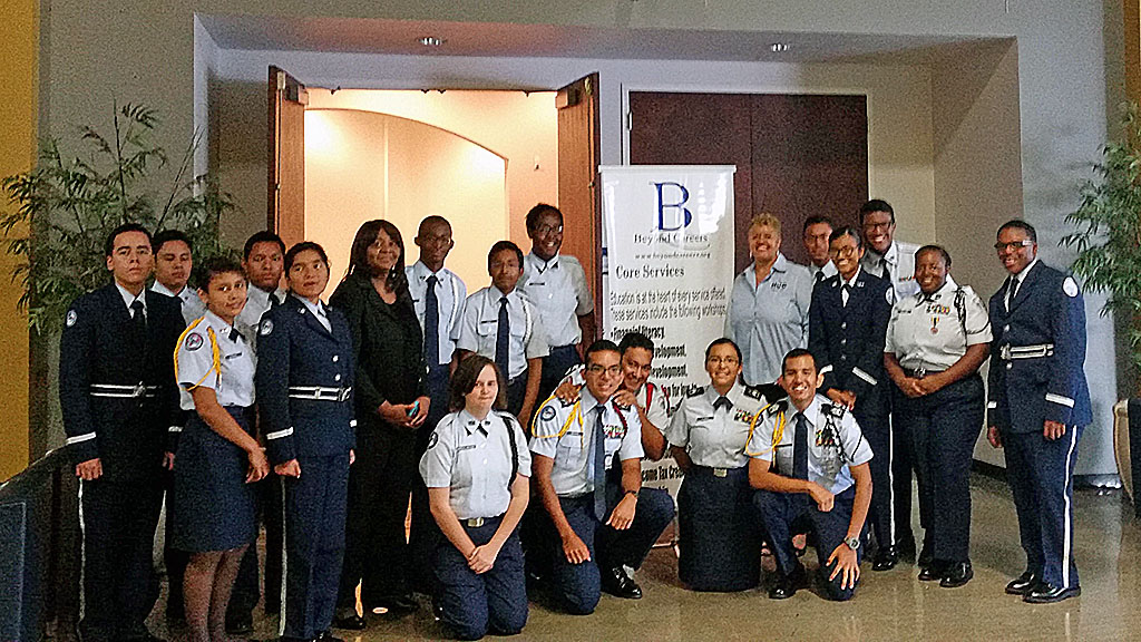westbury-jrotc-hcc-trustee-and-barbara-davis-at-beyond-careers-5th-annual-education-symposium