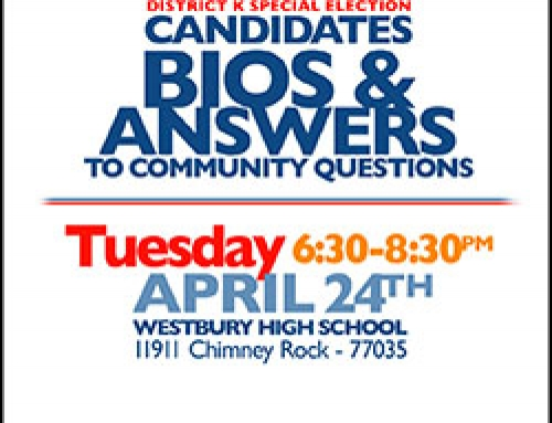 District K Special Election: Candidates Bios & Answers to Community Questions