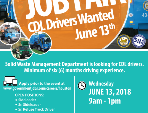 Solid Waste Management Department Job Fair, June 13