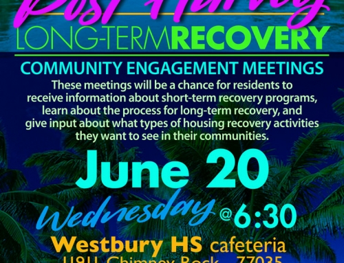 Post Harvey Long-term Recovery Community Engagement Meeting, June 20