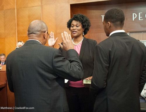 Pictures: Council Member Martha Castex-Tatum swear-in