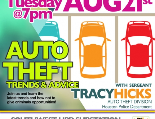 Southwest PIP Meeting: Auto Theft – Trends and Advice, Aug. 21