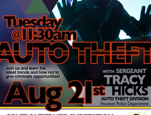 Apartment PIP Meeting: Auto Theft, Aug. 21