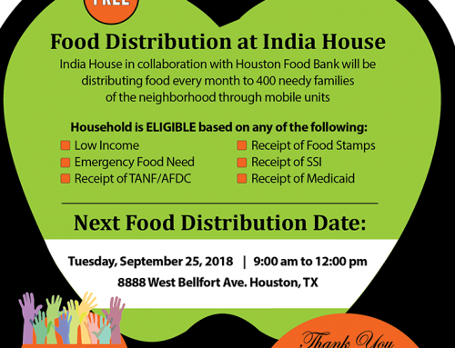 Free Food distribution at India House