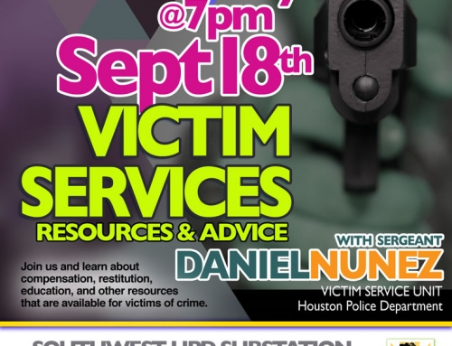 Southwest PIP Meeting: Victim Services, Resources & Advice, Sept. 18