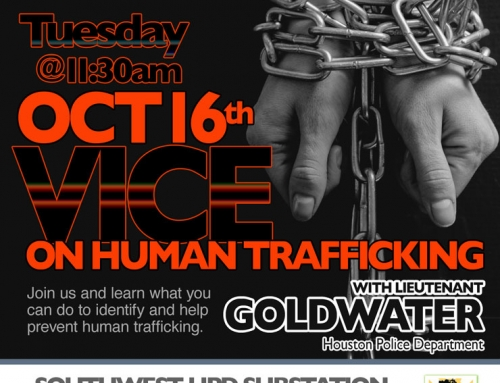 Apartment PIP Meeting: Vice on Human Trafficking, Oct. 16