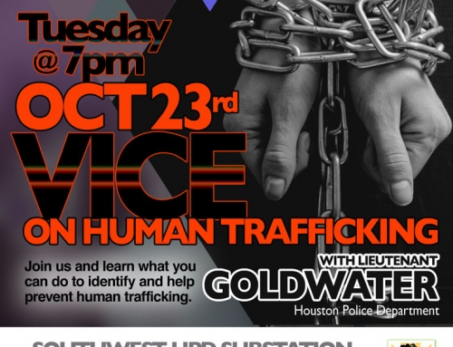 Southwest PIP Meeting: Vice on Human Trafficking, Oct. 23