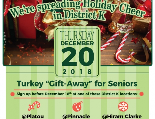 "District K Turkey ""Gift-Away"" for Seniors, Dec. 20"