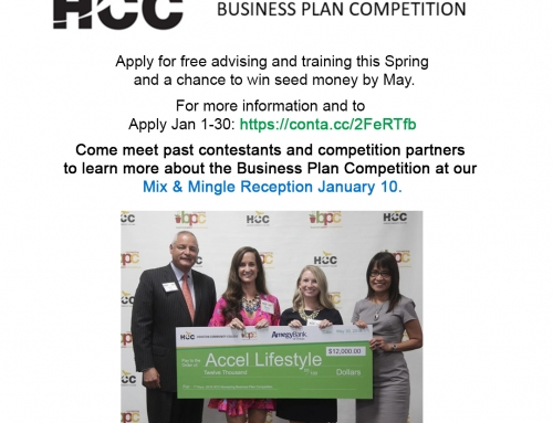 HCC: Business Plan Competition Reception, Jan. 10