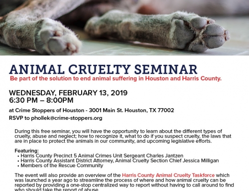 RSVP for this FREE Animal Cruelty Seminar!