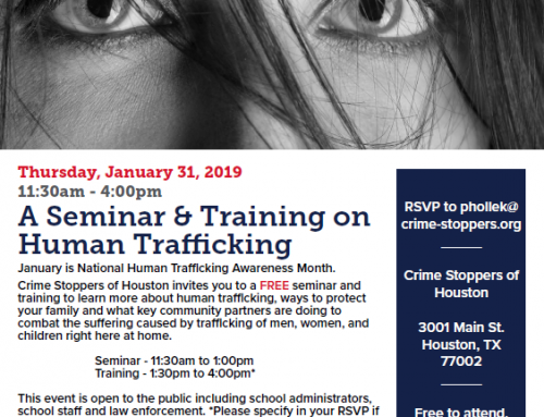 A Seminar & Training on Human Trafficking, Jan. 31