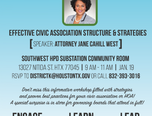 Neighborhood 101 Seminar: Effective Civic Association Structure and Strategy