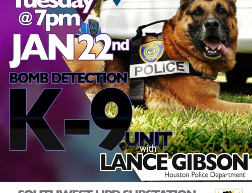 Southwest PIP Meeting: Bomb Detection K-9 Unit, Jan. 22