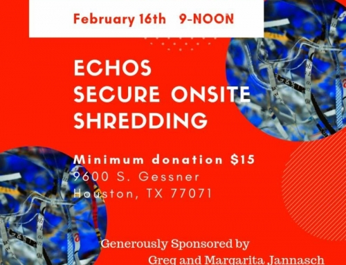 ECHOS Shred Day – February 16th Will you be there?
