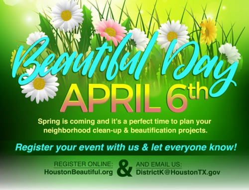 Keep District K & Houston Beautiful Day, April 6
