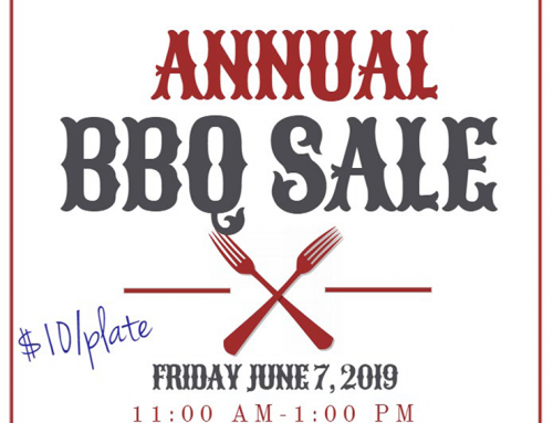 Annual BBQ Sale, June 7