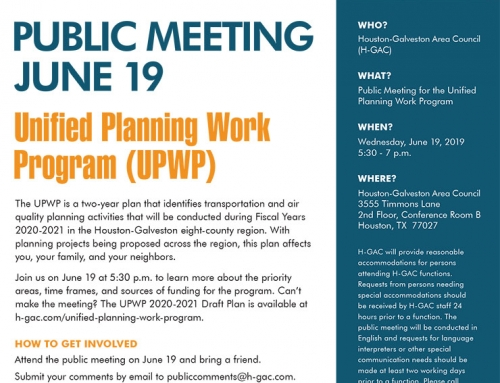 Public Meeting – Unified Planning Work Program
