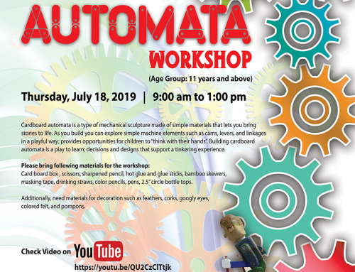 Free Automata Workshop for children, July 18