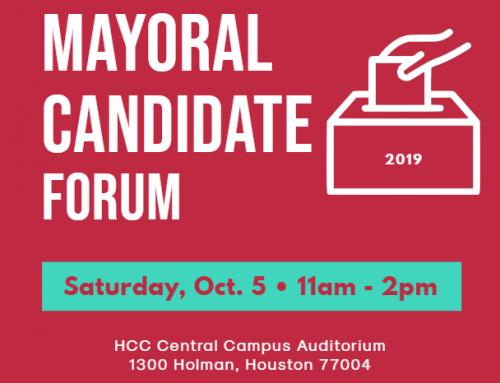 Super Neighborhood Alliance #38 Mayoral Forum, Oct. 5