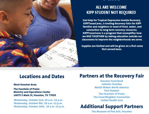 KIPP Texas Imelda Relief Fairs in Community