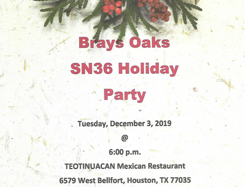 Brays Oaks SN36 Holiday Party, Dec. 3