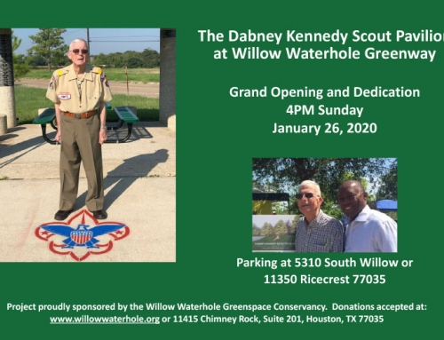 Dabney Kennedy Scout Pavilion at Willow Waterhole Greenway Grand Opening and Dedication, Jan. 26