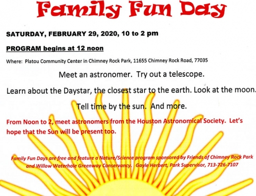 Family Fun Day: Meet Astronomers from the Houston Astronomical Society