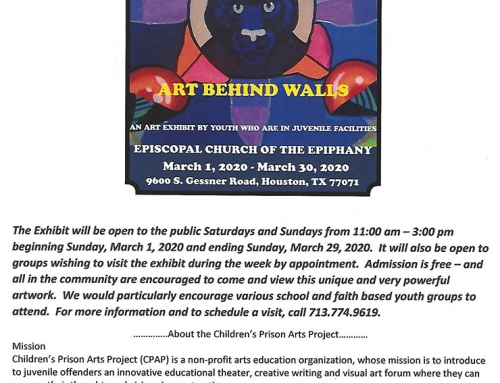 Children's Prison Art Show, March 1-29