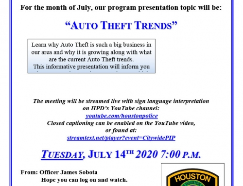 Chief's Citywide PIP Meeting, July 14
