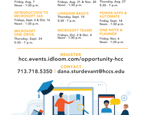 HCC: Southwest Community Learning, Free Online Workshops