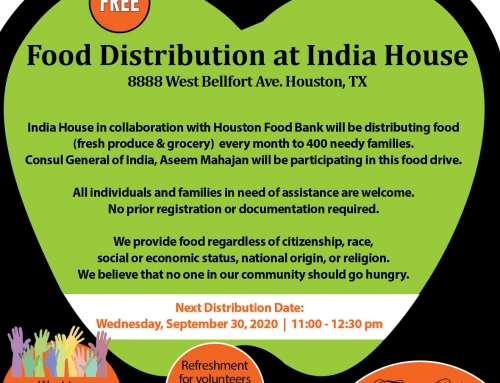 Free Food Distribution at India House, Tomorrow (Wedensday), Sep 30th