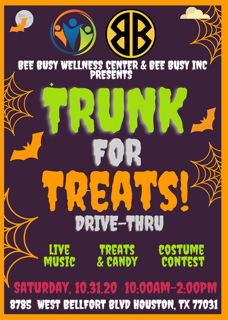Trunk for Treats Drive-Thru, Oct. 31
