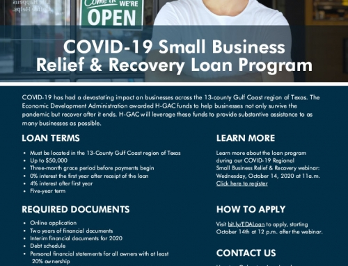 Gulf Coast COVID-19 Recovery and Relief Loan Program- Informational Webinar Oct 14