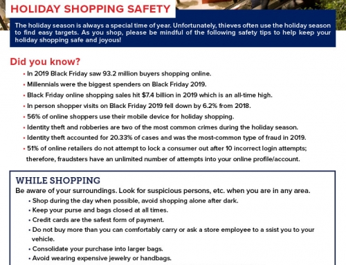 Crime Stoppers: Holiday Shopping Safety