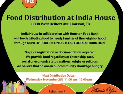 Free Food Distribution at India House, Nov. 25