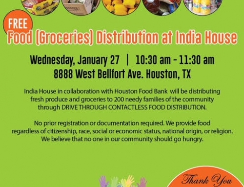 Free Food Distribution at India House on Wednesday, Jan. 27
