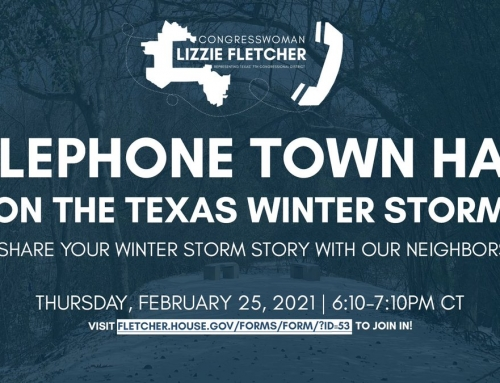 Congresswoman Lizzie Fletcher: Telephone Town Hall on the Texas Winter Storm, Feb. 25