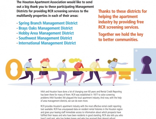 Houston Apartment Association Thanks Brays Oaks Management District