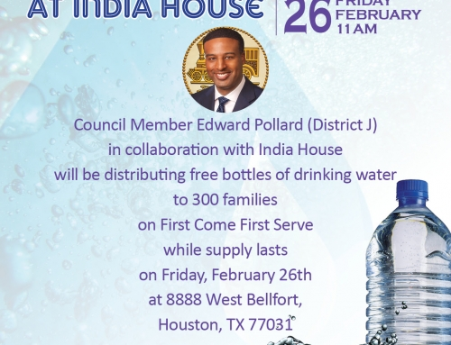 Free Water Distribution at India House | Friday, Feb 26th | 11 am