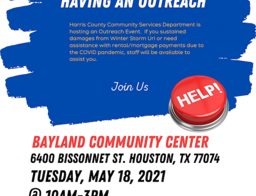 Harris County CSD is Having an Outreach, May 18
