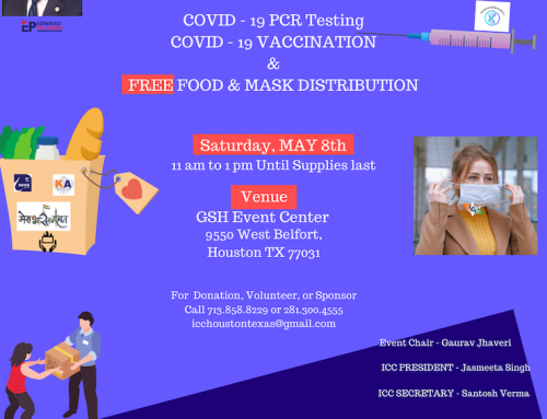 ICC Free Food & Mask Distribution With PCR and Covid-19 Vaccination, May 8