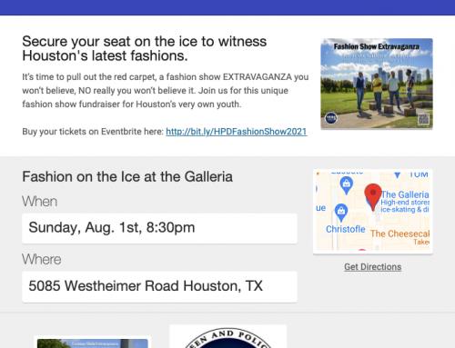 Fashion Show on the Galleria Ice, Aug. 1