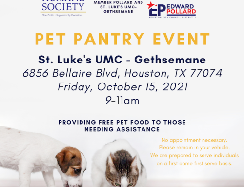 HHS Pet Pantry Event, Oct. 15