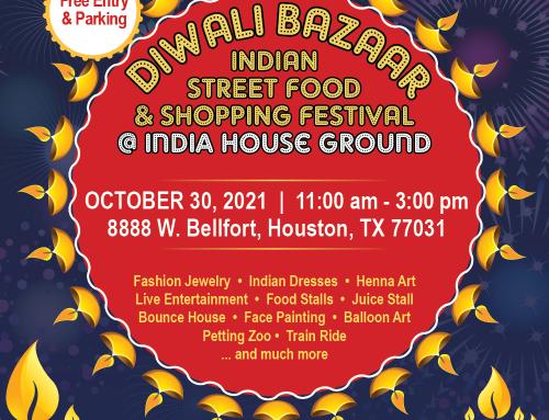 Diwali Bazaar: Fun, Food, Entertainment, Shopping & Kids Activities @ India House, Oct 30